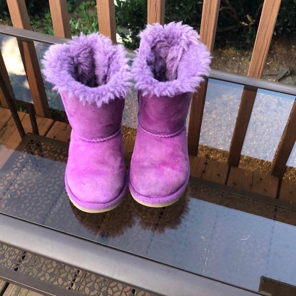 deec59970e4 Bailey bow UGG boots purple/cactus 9